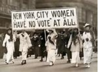 women suffragists marching